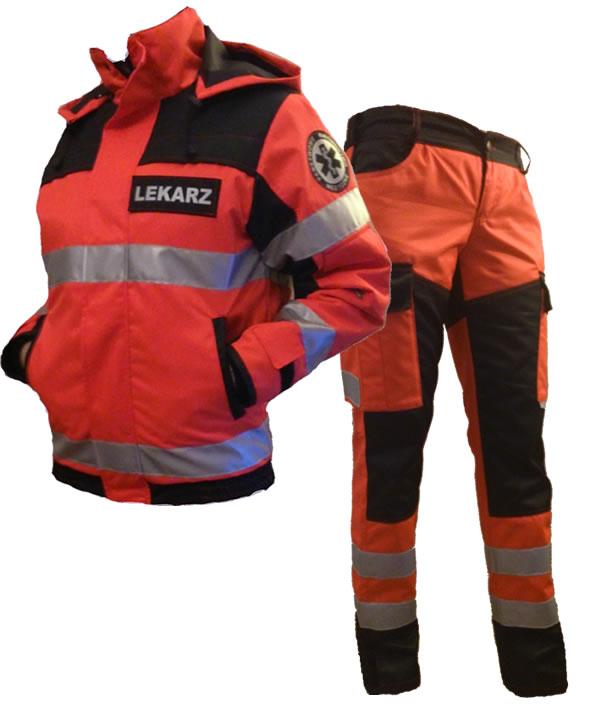 kurtka i spodnie dla ratownika medycznego